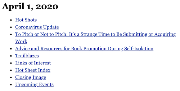 April 1, 2020 table of contents